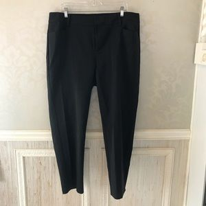 Eloquii 16R black essential trouser pants great